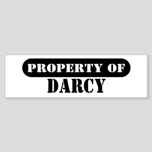 Property of Darcy Bumper Sticker