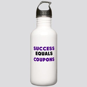 Success Equals Coupons Water Bottle