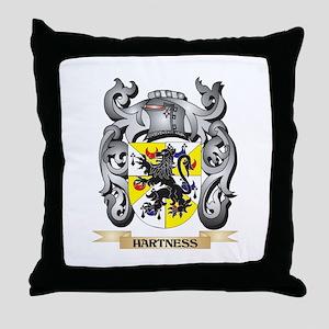 Hartness Coat of Arms - Family Crest Throw Pillow