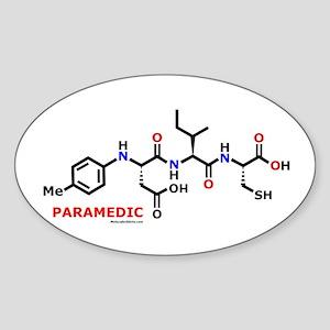 Paramedic molecularshirts.com Sticker (Oval)