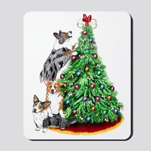 Corgi Christmas Mousepad