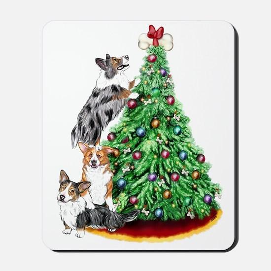 Corgi Christmas Mousepad