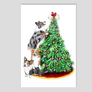 Corgi Christmas Postcards (Package of 8)