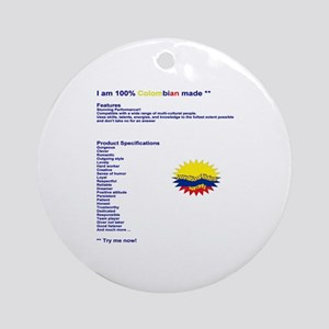 Colombian made Ornament (Round)