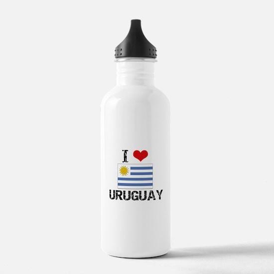 I HEART URUGUAY FLAG Water Bottle