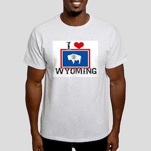 I HEART WYOMING FLAG T-Shirt