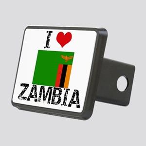 I HEART ZAMBIA FLAG Hitch Cover