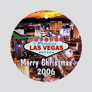 Merry Christmas 2006 Vegas Ornament (Round)