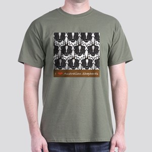 I Love Aussies Dark T-Shirt