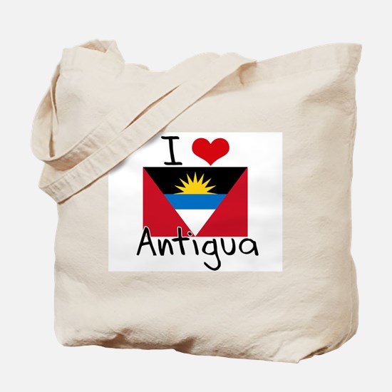 I HEART ANTIGUA FLAG Tote Bag