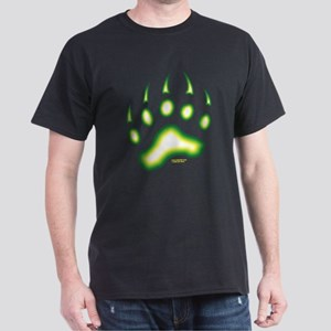 Green Glow Bear Paw Dark T-Shirt