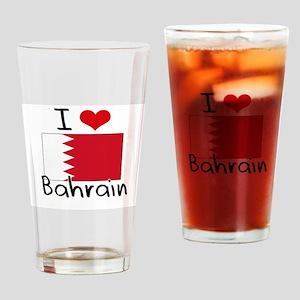 I HEART BAHRAIN FLAG Drinking Glass