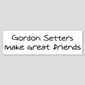 Gordon Setters make friends Bumper Sticker
