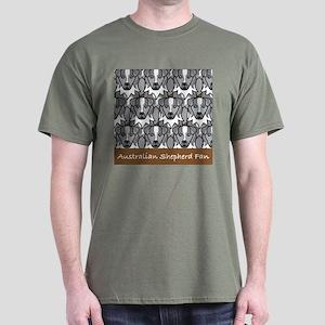 Blue Aussie Fan Dark T-Shirt