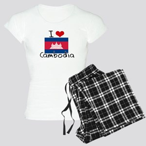 I HEART CAMBODIA FLAG Pajamas