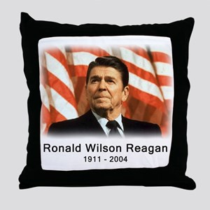 Ronald Reagan Rememberance Throw Pillow
