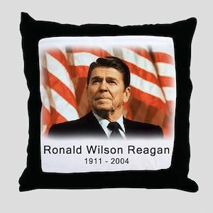 Ronald Reagan Rememberance Throw Pillow
