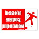 Emergency Jump [Sticker/Rectangular]