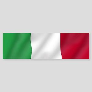 Pure Flag of Italy Bumper Sticker