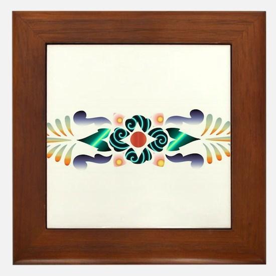 Floral Delight Framed Tile