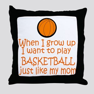 Basketball...just like MOM Throw Pillow