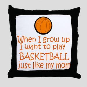 Basketball...just like MOM Throw Pillow