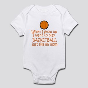 Basketball...just like MOM Infant Bodysuit