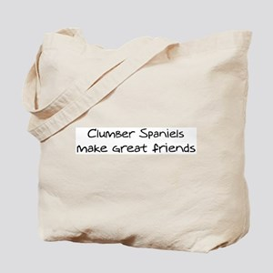 Clumber Spaniels make friends Tote Bag