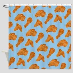 Fried Chicken Pattern Shower Curtain