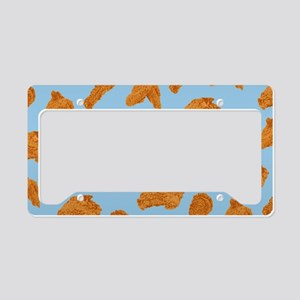 Fried Chicken Pattern License Plate Holder