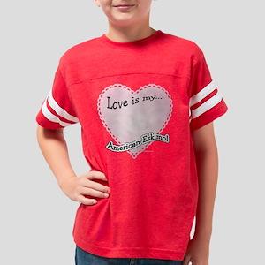 AmericanEskimoloveIsdark Youth Football Shirt