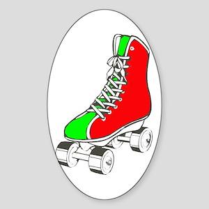 Roller Skate for Health Sticker (Oval)