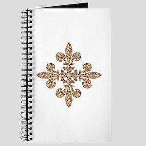 Multi-color Rhinestone Fleur Journal