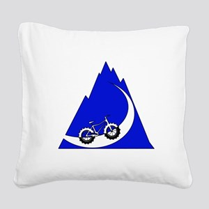 Fat Bike mountain Square Canvas Pillow
