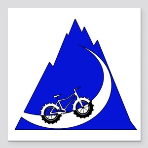 "Fat Bike mountain Square Car Magnet 3"" x 3"""