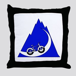Fat Bike mountain Throw Pillow