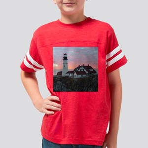 Portland Headlight Sunrise Pi Youth Football Shirt