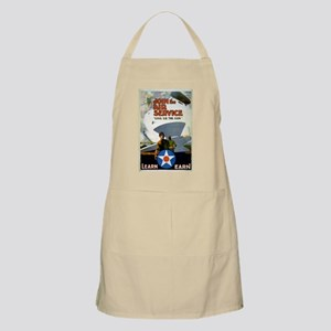 """""""Give'er The Gun"""" WWI Poster BBQ Apron"""
