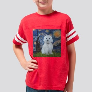 Starry Night - Maltese (B) -  Youth Football Shirt