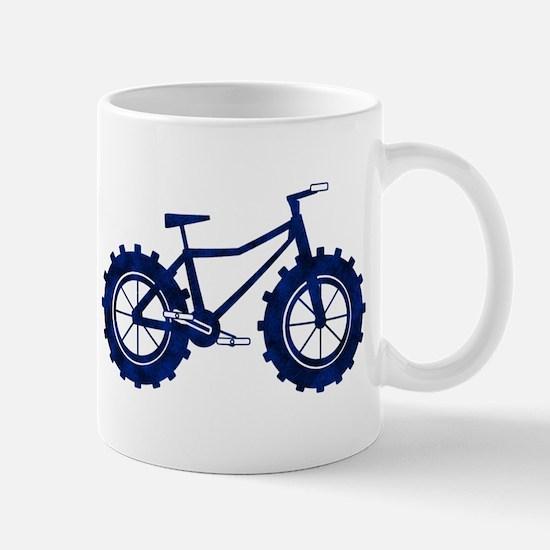 black and blue bike Mug