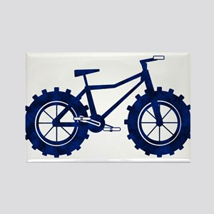 black and blue bike Rectangle Magnet
