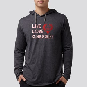 Schnoodles Shirt - Live Love Sch Mens Hooded Shirt