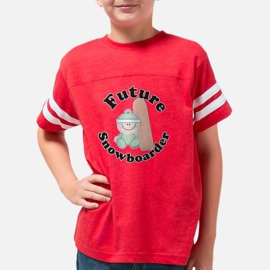 snowboarder Youth Football Shirt