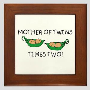Mother of Twins X2 Framed Tile