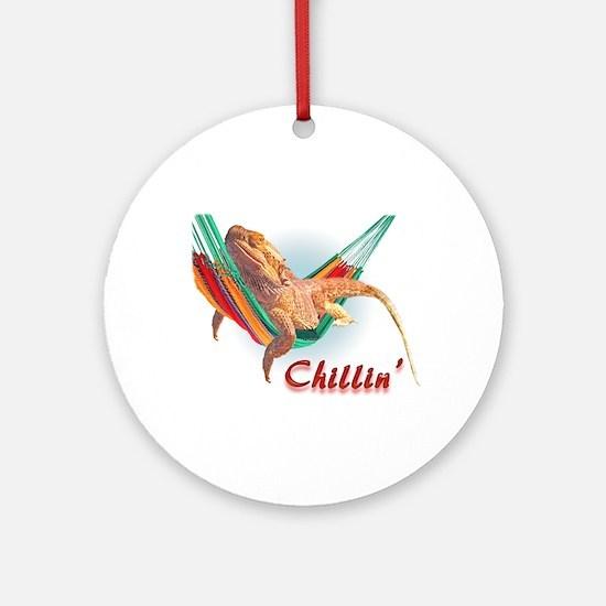 Bearded Dragon Chillin Ornament (Round)