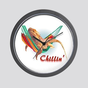 Bearded Dragon Chillin Wall Clock