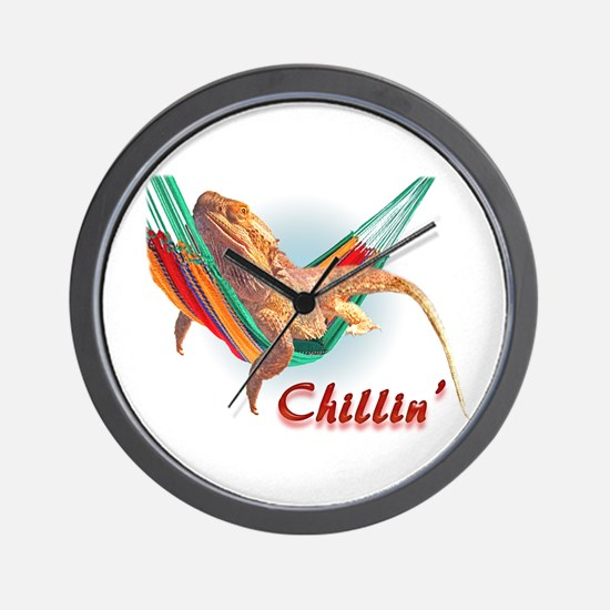 Bearded Dragon Chillin Wall Clock