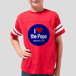 heartpope_button Youth Football Shirt