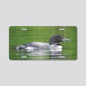 Loon at Peace Aluminum License Plate