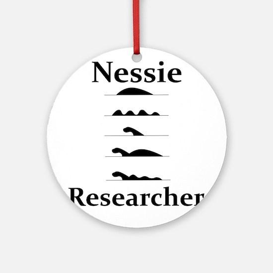 Nessie Researcher Round Ornament